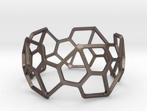 Catalan Bracelet - Pentagonal Hexecontahedron in Polished Bronzed Silver Steel: Large