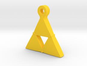 Delta Triangle Pendant in Yellow Processed Versatile Plastic