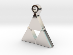 Delta Triangle Pendant in Rhodium Plated Brass