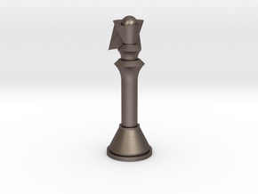 1/1 Code Geass Chess Piece Queen in Polished Bronzed Silver Steel