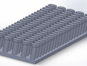 1.2mm Across Flats NAS BOLTS in Smoothest Fine Detail Plastic