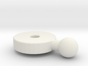 Replacement Ankle Joint for Rockin' Megaman in White Natural Versatile Plastic
