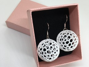 Moon Earrings in White Natural Versatile Plastic