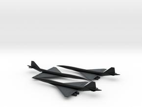 1/600 BOEING 2707 SUPERSONIC TRANSPORT SST(3 PACK) in Black Hi-Def Acrylate
