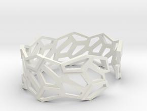 STEIN Cuff Bracelet in White Natural Versatile Plastic: Small