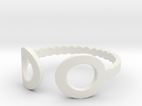 Bubble Ball Ring End Ring in White Natural Versatile Plastic: 6 / 51.5