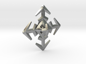 Snowflake D8 in Natural Silver