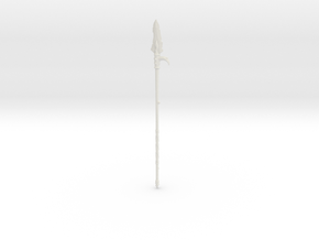 """BotW"" Lizal Spear in White Natural Versatile Plastic: 1:12"