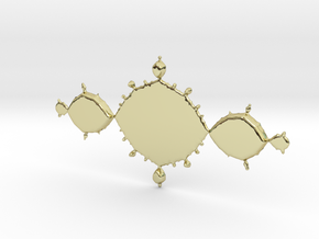 Fractal Tri-Polygon - Polished Bronze in 18k Gold Plated Brass: Small