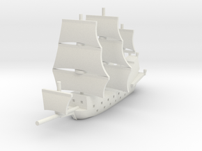 1/900 Galleon game piece 1 in White Natural Versatile Plastic