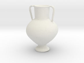 Printle Thing Classic Vase - 1/24 in White Natural Versatile Plastic