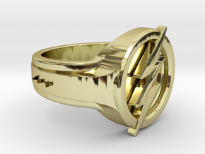 The Flash Ring in 18k Gold Plated Brass: 6 / 51.5