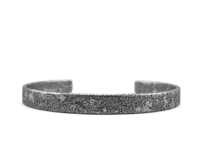Corrosion -  Size 8.50 Sterling Silver Bangle Brac in Polished Silver: Extra Large
