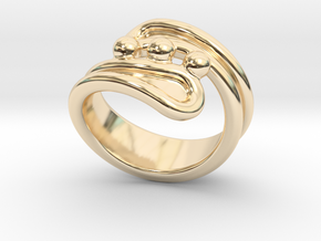 Threebubblesring 17 - Italian Size 17 in 14K Yellow Gold