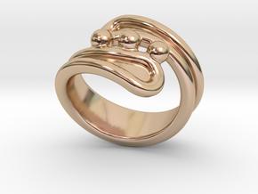 Threebubblesring 17 - Italian Size 17 in 14k Rose Gold Plated Brass