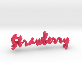 Strawberry Strawberry Necklace in Pink Strong & Flexible Polished