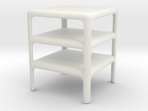 Stack of 3 Demetrio 45 Tables (Space: 1999), 1/ 30 in White Natural Versatile Plastic