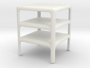 Stack of 3 Demetrio 45 Tables (Space: 1999), 1/ 30 in White Natural Versatile Plastic