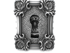 Keyhole Baroque - Huge Detailed Ring S. Silver in Polished Silver: 4 / 46.5