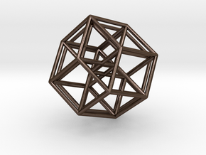 5-Cube in Polished Bronze Steel