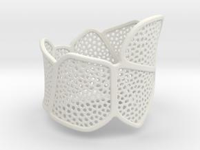 Bracelet KLM (3) in White Natural Versatile Plastic