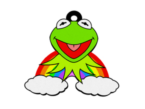 Kermit Rainbow Pendant in Full Color Sandstone