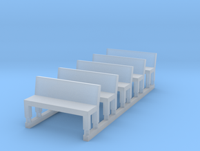 Bench type A - Z scale 1:220 in Frosted Extreme Detail