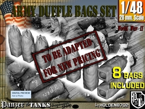 1-48 Army Duffle Bags Set1 in Transparent Acrylic