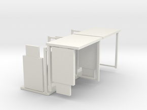 1:76th Bus shelter type 3 (4 pack) in White Natural Versatile Plastic