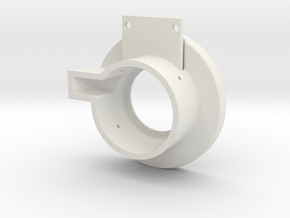 Rampage Encoder Mount Left Front in White Natural Versatile Plastic