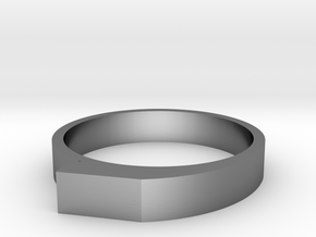 Staccato Ring in Polished Silver: 5 / 49