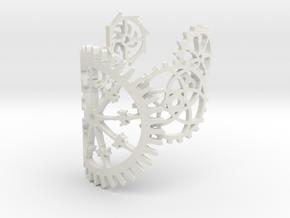 Steampunk Bracelet in White Natural Versatile Plastic