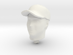 1/20 Generic F1 Driver Head in Cap in White Natural Versatile Plastic