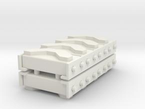 1/16 M3 / M4 Spare Track Rack (4) in White Natural Versatile Plastic