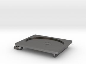 Belt Buckle Metal in Polished Nickel Steel