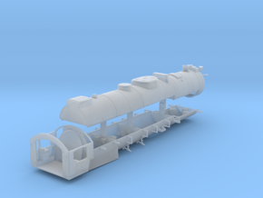 HO Scale  Reading T1 Boiler Assembly in Smooth Fine Detail Plastic
