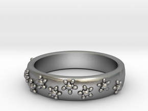 Flower Band in Natural Silver