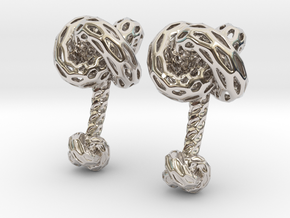 DRAGON, Cufflinks. Pure, Strong. in Rhodium Plated Brass