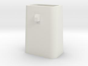 Stahlkokille 2 Zapfen quer ohne Boden 1:120 in White Strong & Flexible