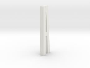 Duckdalben 2er mit Innenstreben 1:120 in White Natural Versatile Plastic
