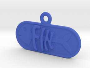 Fin Name Tag in Blue Strong & Flexible Polished