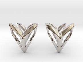Phantom, Cufflinks. Space Chic in Rhodium Plated Brass