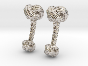 Little Dragon, Cufflinks. Pure, Strong. in Rhodium Plated Brass