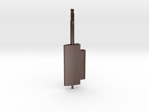 Flap Rudder (Main Blade) V03 1/87 in Polished Bronze Steel