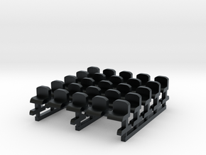 Bench type C - Z scale 1:220 in Black Hi-Def Acrylate