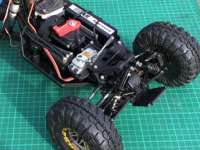 Twin Hammers Steering and Upright Shock Upgrade in Black Natural Versatile Plastic
