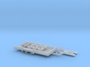 H0 1:87 Minibagger-Transportanhänger in Smooth Fine Detail Plastic