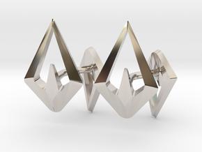 HEAD TO HEAD Sharp, Cufflinks  in Rhodium Plated Brass