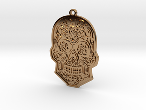 Skull Charm in Polished Brass