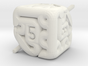 Brain d6 in White Natural Versatile Plastic